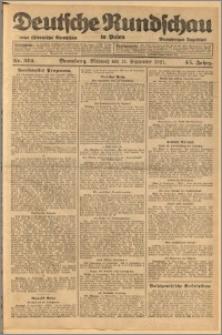 Deutsche Rundschau in Polen. J. 45, 1921, nr 212