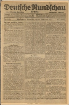 Deutsche Rundschau in Polen. J. 45, 1921, nr 213