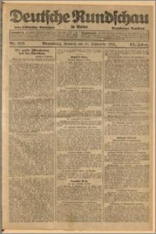 Deutsche Rundschau in Polen. J. 45, 1921, nr 216