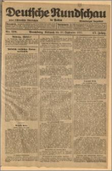 Deutsche Rundschau in Polen. J. 45, 1921, nr 218
