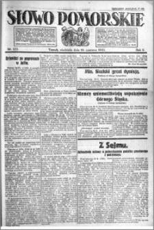Słowo Pomorskie 1921.06.19 R.1 nr 137