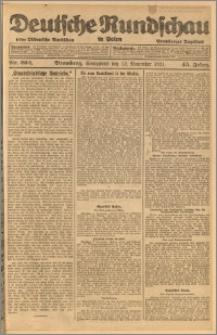 Deutsche Rundschau in Polen. J. 45, 1921, nr 262