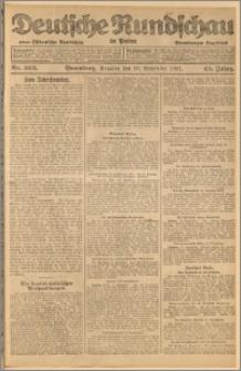 Deutsche Rundschau in Polen. J. 45, 1921, nr 263