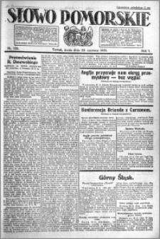 Słowo Pomorskie 1921.06.22 R.1 nr 139
