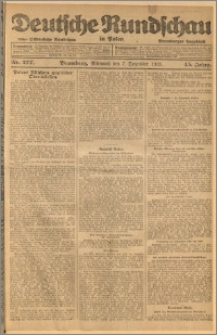 Deutsche Rundschau in Polen. J. 45, 1921, nr 277