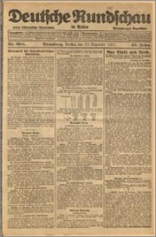 Deutsche Rundschau in Polen. J. 45, 1921, nr 290