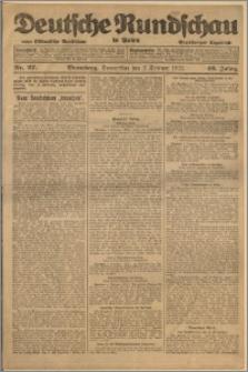 Deutsche Rundschau in Polen. J. 46, 1922, nr 27
