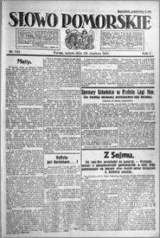 Słowo Pomorskie 1921.06.25 R.1 nr 142