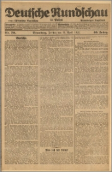 Deutsche Rundschau in Polen. J. 46, 1922, nr 70