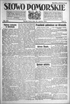 Słowo Pomorskie 1921.06.29 R.1 nr 145