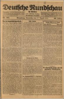 Deutsche Rundschau in Polen. J. 46, 1922, nr 165