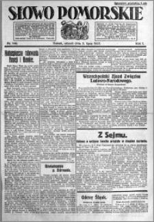 Słowo Pomorskie 1921.07.05 R.1 nr 149