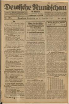 Deutsche Rundschau in Polen. J. 46, 1922, nr 201