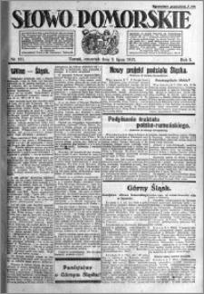 Słowo Pomorskie 1921.07.07 R.1 nr 151