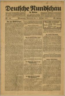 Deutsche Rundschau in Polen. J. 47, 1923, nr 44