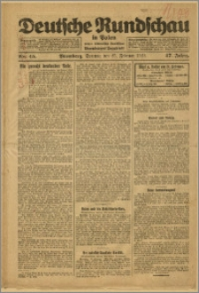 Deutsche Rundschau in Polen. J. 47, 1923, nr 45