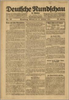 Deutsche Rundschau in Polen. J. 47, 1923, nr 47