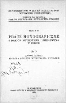 Studja z dziejów wychowania w Polsce
