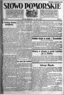 Słowo Pomorskie 1921.07.13 R.1 nr 156