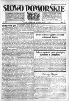 Słowo Pomorskie 1921.07.26 R.1 nr 167