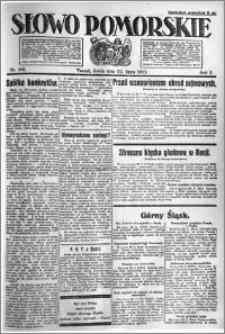 Słowo Pomorskie 1921.07.27 R.1 nr 168