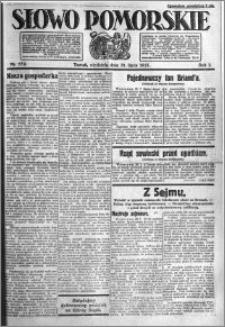 Słowo Pomorskie 1921.07.31 R.1 nr 172