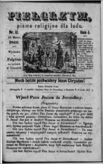 Pielgrzym, pismo religijne dla ludu 1869 rok I nr 12