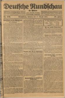 Deutsche Rundschau in Polen. J. 48, 1924, nr 189