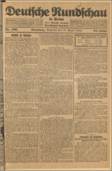Deutsche Rundschau in Polen. J. 48, 1924, nr 190