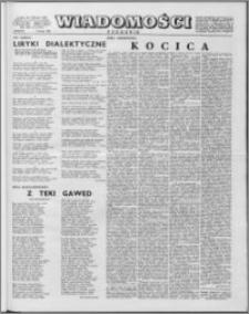 Wiadomości, R. 13 nr 6 (619), 1958