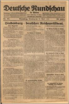 Deutsche Rundschau in Polen. J. 49, 1925, nr 97