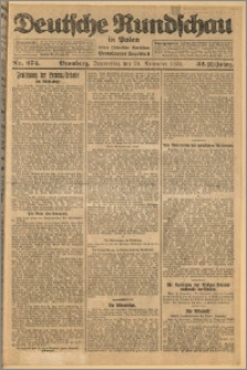 Deutsche Rundschau in Polen. J. 32 (49), 1925, nr 274