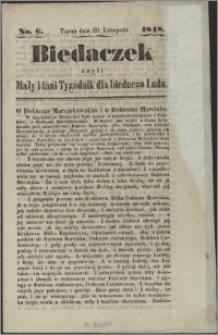 Biedaczek : czyli mały i tani tygodnik dla biednego ludu, 1848.11.29 R. 1 nr 6