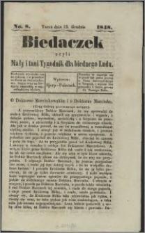 Biedaczek : czyli mały i tani tygodnik dla biednego ludu, 1848.12.13 R. 1 nr 8