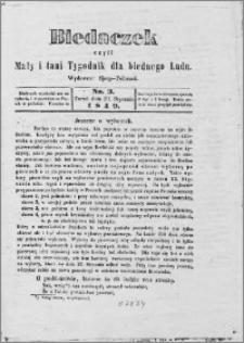 Biedaczek : czyli mały i tani tygodnik dla biednego ludu, 1849.01.19 R. 2 nr 3