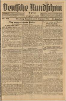 Deutsche Rundschau in Polen. J. 33 (50), 1926, nr 214