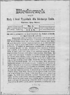 Biedaczek : czyli mały i tani tygodnik dla biednego ludu, 1849.02.02 R. 2 nr 5