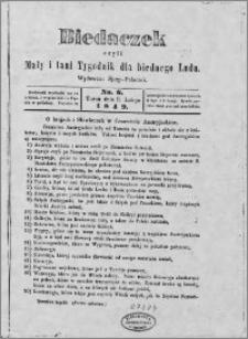 Biedaczek : czyli mały i tani tygodnik dla biednego ludu, 1849.02.09 R. 2 nr 6