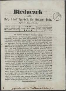 Biedaczek : czyli mały i tani tygodnik dla biednego ludu, 1849.03.02 R. 2 nr 9