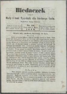 Biedaczek : czyli mały i tani tygodnik dla biednego ludu, 1849.03.09 R. 2 nr 10
