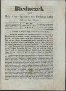 Biedaczek : czyli mały i tani tygodnik dla biednego ludu, 1849.03.16 R. 2 nr 11