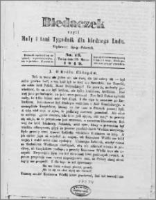 Biedaczek : czyli mały i tani tygodnik dla biednego ludu, 1849.03.30 R. 2 nr 13