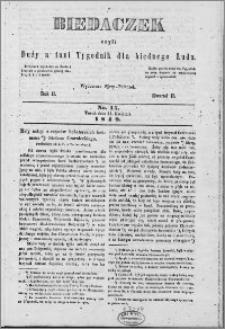 Biedaczek : czyli mały i tani tygodnik dla biednego ludu, 1849.04.11 R. 2 nr 15