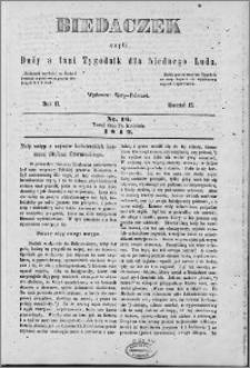 Biedaczek : czyli mały i tani tygodnik dla biednego ludu, 1849.04.18 R. 2 nr 16
