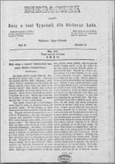 Biedaczek : czyli mały i tani tygodnik dla biednego ludu, 1849.04.25 R. 2 nr 17