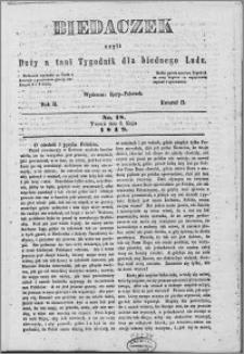 Biedaczek : czyli mały i tani tygodnik dla biednego ludu, 1849.05.03 R. 2 nr 18