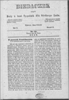 Biedaczek : czyli mały i tani tygodnik dla biednego ludu, 1849.05.23 R. 2 nr 21