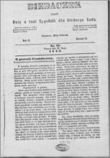 Biedaczek : czyli mały i tani tygodnik dla biednego ludu, 1849.05.30 R. 2 nr 22