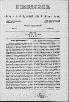 Biedaczek : czyli mały i tani tygodnik dla biednego ludu, 1849.06.20 R. 2 nr 25