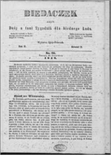 Biedaczek : czyli mały i tani tygodnik dla biednego ludu, 1849.06.27 R. 2 nr 26